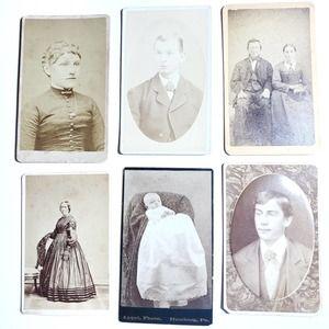 Antique   CDV Photographs Cards PA